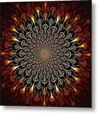 Fire Glyph Metal Print by Anastasiya Malakhova