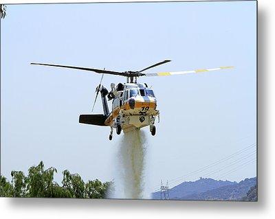 Fire Hawk Water Drop Metal Print by Shoal Hollingsworth