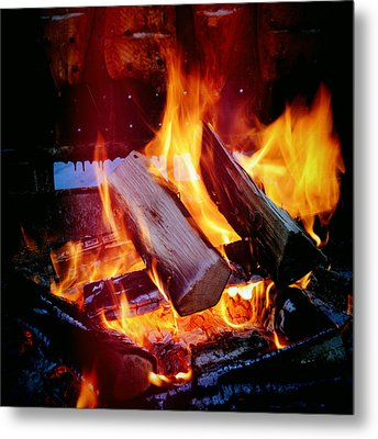 Fire - Hot And Orange Metal Print
