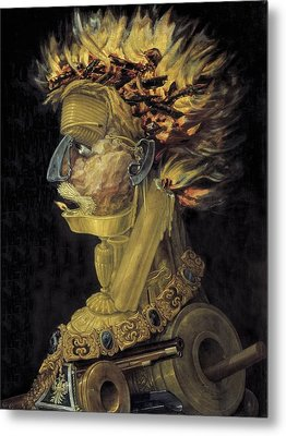 Fire Ignis. 1566. Painted Metal Print by Everett