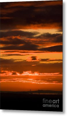 Fire In The Sky Metal Print by Anne Gilbert