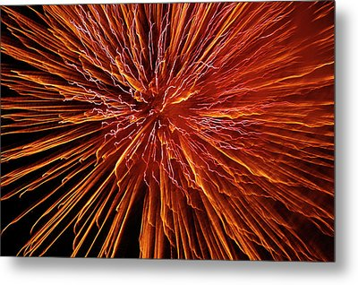 Fire In The Sky Metal Print by Carolyn Marshall