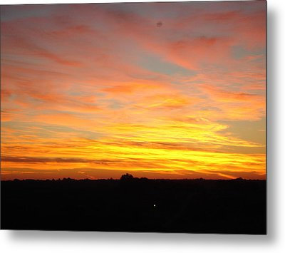 Metal Print featuring the painting Fire In The Sky by J L Zarek