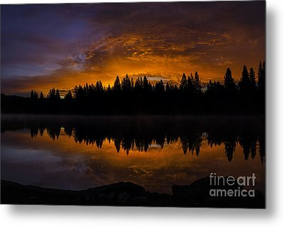 Fire In The Sky Metal Print by Nancy Marie Ricketts
