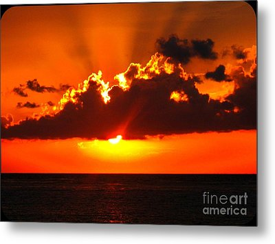 Fire In The Sky Metal Print by Patti Whitten