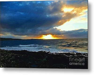 Fire In The Skye Metal Print