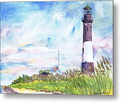 Fire Island Lighthouse Late Summer Metal Print