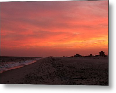 Fire Island Sunset Metal Print
