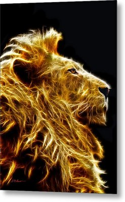 Fire Lion Metal Print by Michael Durst