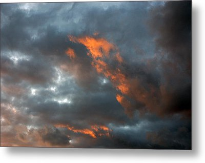 Fire Light Metal Print by Allen Carroll