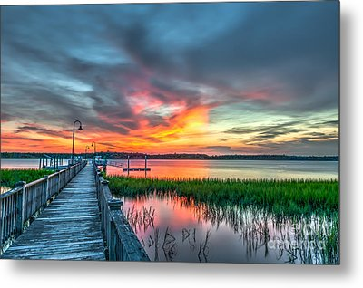 Fire Light Metal Print by Dale Powell
