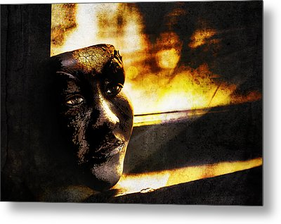 Fire Mask Metal Print by Scott Norris