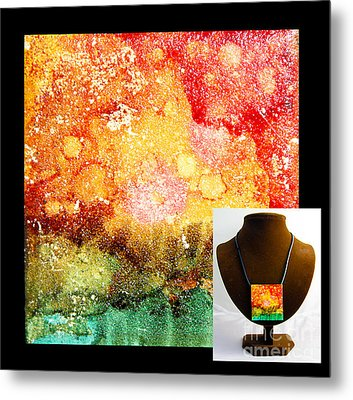 Fire Necklace Metal Print