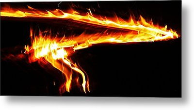 Metal Print featuring the photograph Fire On High... by Al Fritz