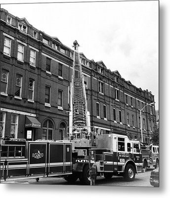 Fire On Preston Street Metal Print