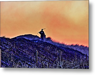 Fire On The Dunes Metal Print by Tony Reddington