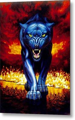 Fire Panther Metal Print