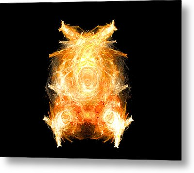 Metal Print featuring the digital art Fire Pig by R Thomas Brass