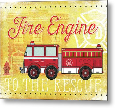 Fire Rescue Metal Print by Jennifer Pugh