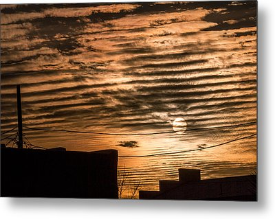 Metal Print featuring the photograph Fire Sky by Beverly Parks