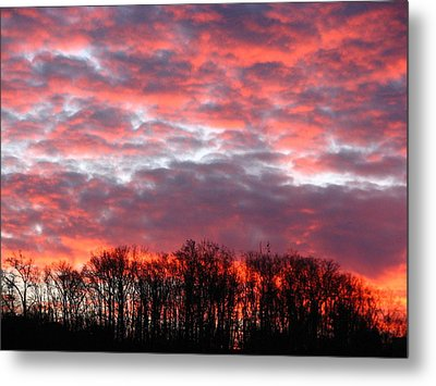 Fire Sky Metal Print by Cleaster Cotton