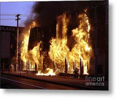 Metal Print featuring the digital art Fire by Steven Spak
