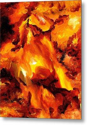 Fire Storm Metal Print by Jennifer Galbraith