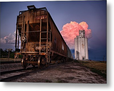 Fire Train Metal Print by Thomas Zimmerman