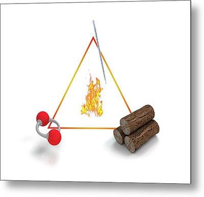 Fire Triangle Metal Print by Mikkel Juul Jensen