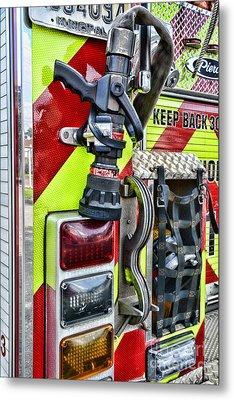 Fire Truck - Keep Back 300 Feet Metal Print by Paul Ward