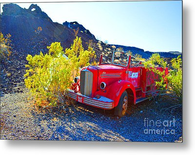 Fire Truck Parking Metal Print