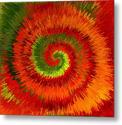 Metal Print featuring the photograph Fireburst Extrusion by Ellen Tully