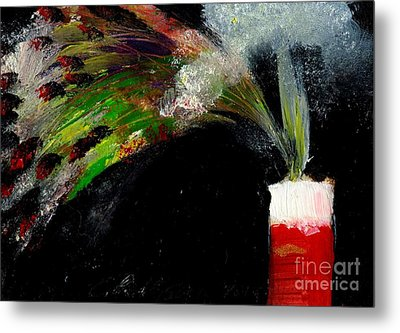 Firecracker Explodes. Bang Series No. 7 Metal Print by Cathy Peterson