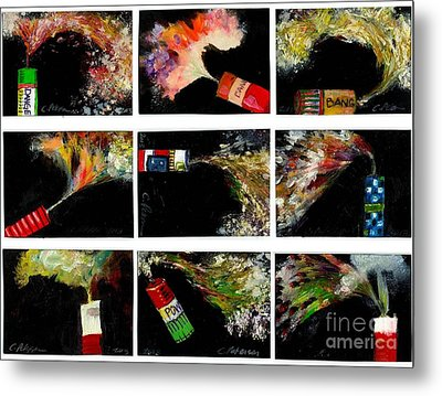 Firecrackers Explode. Bang Series. No. 1 Thru 9 Metal Print by Cathy Peterson