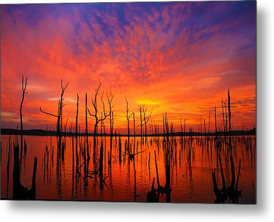 Fired Up Morn Metal Print