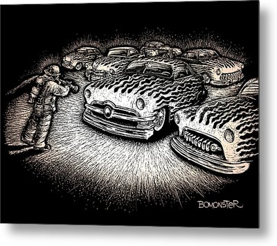 Firefighter Metal Print by Bomonster