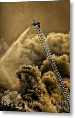 Firefighter-heat Of The Battle Metal Print