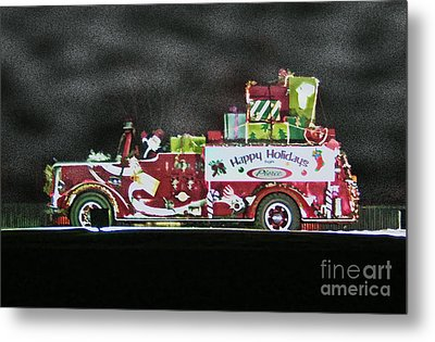 Firefighters Christmas Metal Print by Tommy Anderson