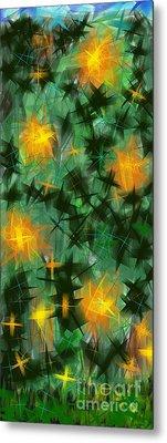 Metal Print featuring the digital art Fireflies by Lena Wilhite
