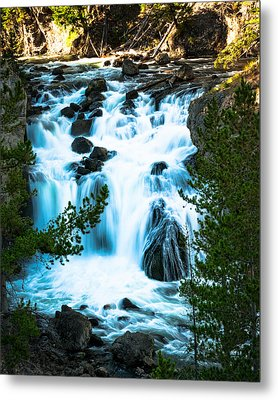 Firehole Falls - Yellowstone Metal Print by R J Ruppenthal