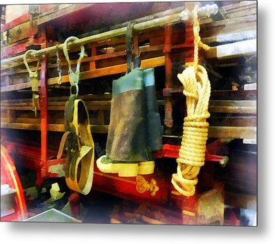 Fireman - Boots And Fire Gear Metal Print by Susan Savad