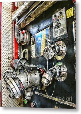 Fireman - Control Panel Metal Print by Paul Ward