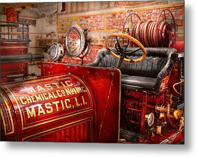 Fireman - Mastic Chemical Co Metal Print by Mike Savad