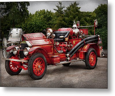 Fireman - Phoenix No2 Stroudsburg Pa 1923  Metal Print by Mike Savad