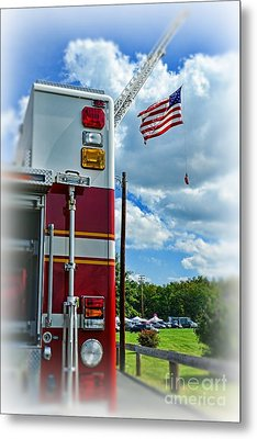 Fireman - Proudly They Serve Metal Print by Paul Ward