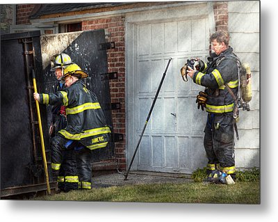 Fireman - Take All Fires Seriously  Metal Print by Mike Savad