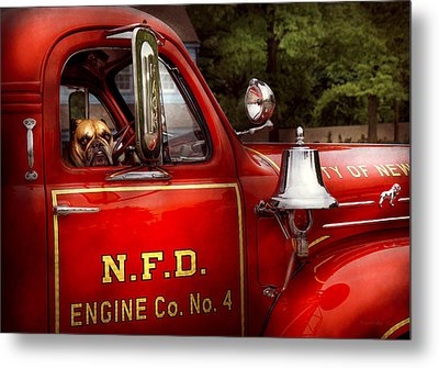 Fireman - This Is My Truck Metal Print by Mike Savad