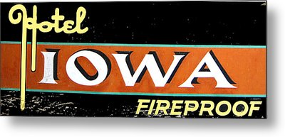Fireproof- Hotel Iowa Metal Print by Jame Hayes
