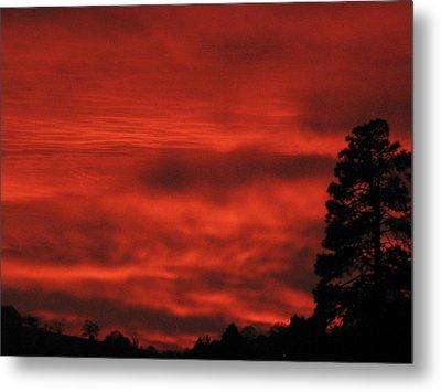Firery Sky Metal Print by Debra Madonna