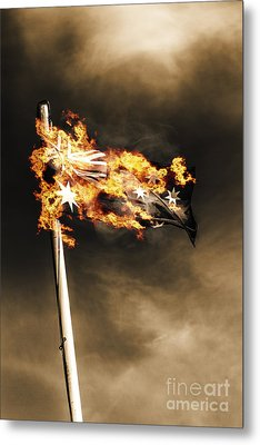Fires Of Australian Oppression Metal Print